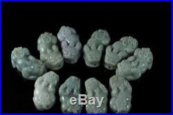 100% Natural Grade A Jade Jadeite Dragon Pi Xiu Pendant (f1-05)