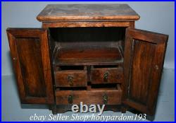 15.2 Old Chinese Huanghuali Wood Dynasty Dragon Drawer Cupboard Cabinet