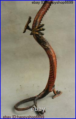 16 Chinese Bronze Feng shui 12 Zodiac Year Animal God Dragon Loong Beast Statue