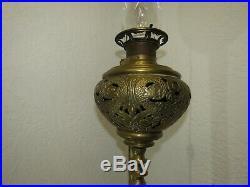 1878 Victorian Brass Chinese Dragon Parlor Floor Lamp Antique Speakeasy NICE
