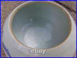 19th C. Chinese Porcelain Blue and White Large Brush Wash/ Bowl with dragon