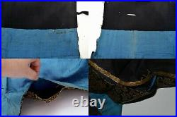 19th Century Chinese Kesi Kossu Silk Embroidery Half Skirt Dragon AS IS