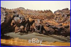 2,8kg! Unique Agarwood Aloeswood Dragon Sculpture HANDMADE