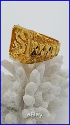22 karat Chinese Dragon Antique Gold Ring