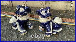 A Fantastic Vintage Pair Of Chinese Foo Dogs Dragons (C1)