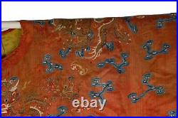 A Qing Dynasty Imperial Ladies Red Dragon Robe