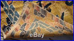 ANTIQUE CHINESE TIBETAN DRAGON RUG An exceptional rug frm Tibet 5 ft x 7 ft 2 in