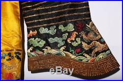 Amazing Antique Chinese Qing Dynasty Emperor Dragon Robe YunJinLongPao US167