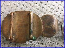 Ancienne boucle de ceinture bronze DRAGON Chine Gilt antique buckle Chinese quin
