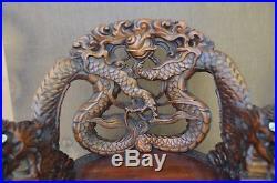 Antique 19 th Century Chinese Dragon Throne rare