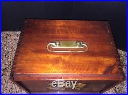 Antique 1920s Chinese Mah Jong Set- 148 Tile Bamboo/bone Rosewood Dragon Box