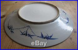 Antique 19th Century Chinese Blue & White Imperial Dragon Charger-Large Plate