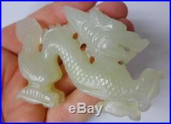 Antique Asian Chinese Jade Figurine Dragon Statue BEAUTIFUL