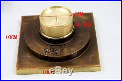 Antique Brass Chinese Dragon Style Floor Drain Bathroom Ground Overflow Fitting