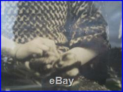 Antique Chinese American Couple Mammoth Photo Lion Dragon Chair Immigrants IL