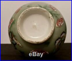 Antique Chinese Celadon Glazed Red Dragon Vase 19th Century