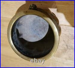 Antique Chinese Censer bowl Foo Dogs Dragons Flowers Rare Shape incense burner