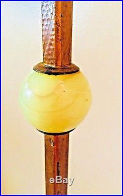 Antique Chinese Dragon Floor Lamp Onyx Akro Agate Jadeite 1930's Art Deco Works
