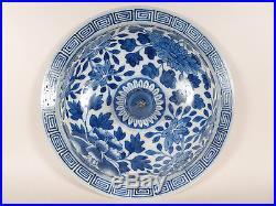 Antique Chinese LARGE 19th Century QIANLONG MARK Blue & White Dragon Jar Vase