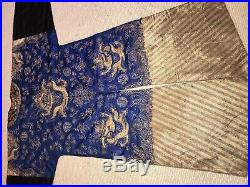 Antique Chinese Qing Embroidered Kesi Dragon Imperial Robe