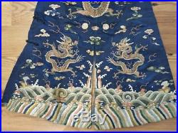 Antique Chinese Silk Embroidered Dragon Coat