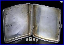 Antique Chinese Wing Nam & Co. Hong Kong Sterling Silver Dragon Cigarette Case