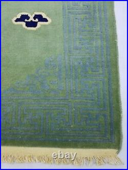 Antique Handmade Chinese Dragon Tibetan Art Deco Oriental Wool Rug Carpet 169x90