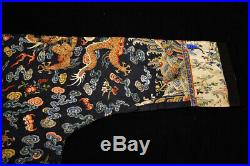Antique Qing Chinese Silk Dragon Robe Rank Badge Stolen by Shawn Mei