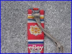 Antique Tibetan ritual water bottle flask 17thC Chinese silk brocade dragon Ming