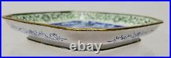 Antique Vintage Chinese Peking Canton Enameled Small Tray Dish Dragon