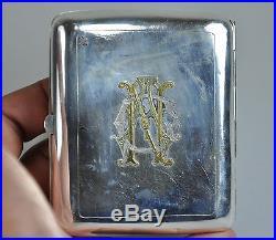 Antique Wang Hing Silver China Chinese Dragon Card Cigarette Case Box 1900