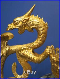Barbedienne Chinese Cloisonne Jardiniere French Ormolu Dragon Design Mounts