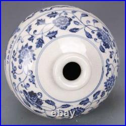 Beautiful Chinese Ming Blue White Porcelain Dragon Vase