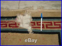 C1910 Antique Tibetan DRAGON Tibet rug wool chinese 8x6
