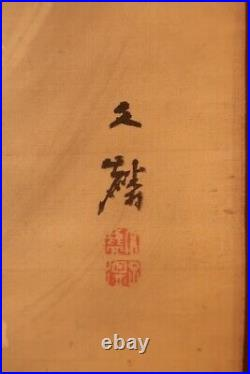 CHINESE PAINTING HANGING SCROLL CHINA DRAGON ANTIQUE Old Art PICTURE AGED e046