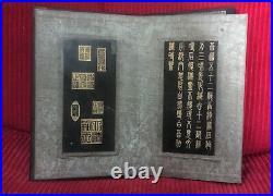 Ca. 1800 Buddha Buddhism Spinach Jade Gilt Tablets Prayer Book Qing Dynasty