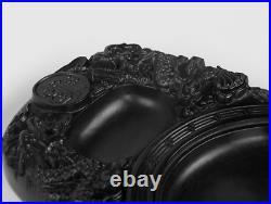 China Huizhou Ink Original Stone Hand-carved Zodiac Dragon Bat Inkstone Inkslab