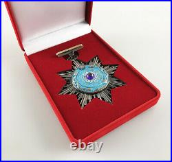 China Medal Badge Chinese Qing Dynasty medal Order of the Double Dragon, top Rare
