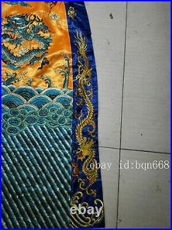 China old Antique silk hand made dragon robe clothes