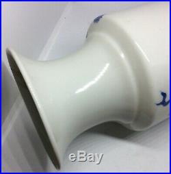 Chinese Antique Blue and White Dragon Porcelain Vase Qing Dynasty Porcelain