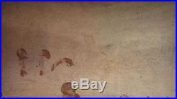 Chinese Antique Ceramic Pottery Huge Dark Brown Glazed Jar Dragon & 5 Foo Dogs