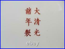 Chinese Antique Rare Famille Verte Guangxu Period Dragon Medallion Plate