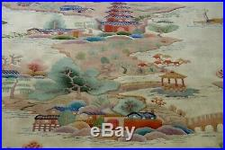 Chinese Art Deco Dragon Pictorial Hand-Knotted Wool 90 line Oriental Rug 9'x12