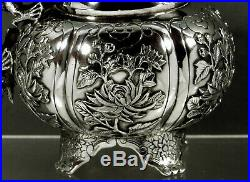 Chinese Export Silver Dragon Pitcher c1875 Wing Cheong