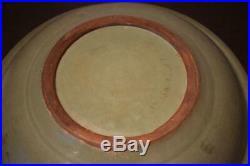 Chinese Old Yuan Ming Dragon Large Plate / W 41.7cm Qing Ming Dish Bowl Vase