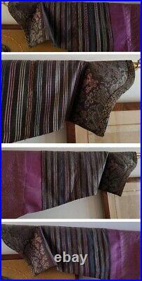 Chinese Qing Dynasty Gold Thread Silk Imperial 8 Dragon 5 Claw Purple Robe C1860
