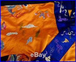 Chinese Silk Embroidered Dragon Robe 56614