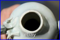 Chinese Southern Song or Yuan Qingbai Dragon Ewer and small Qingbai Vase 12th C