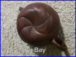 Chinese antique or Vintage yixing teapot. Moving dragon head
