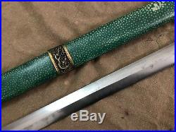Collectable Chinese Dragon Jian Folded Pattern Steel Sharp blade
